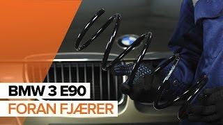 Hvordan og når bytte Spiralfjærer bak venstre høyre BMW 3 (E90): videoopplæring