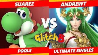 Glitch 8 SSBU - AndrewT (Palutena) Vs. Suarez (Yoshi) Smash Ultimate Tournament Pools