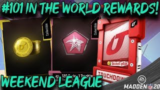 *I DIDNT EXPECT THAT!* MY WEEKEND LEAGUE REWARDS! MADDEN 20 ULTIMATE TEAM