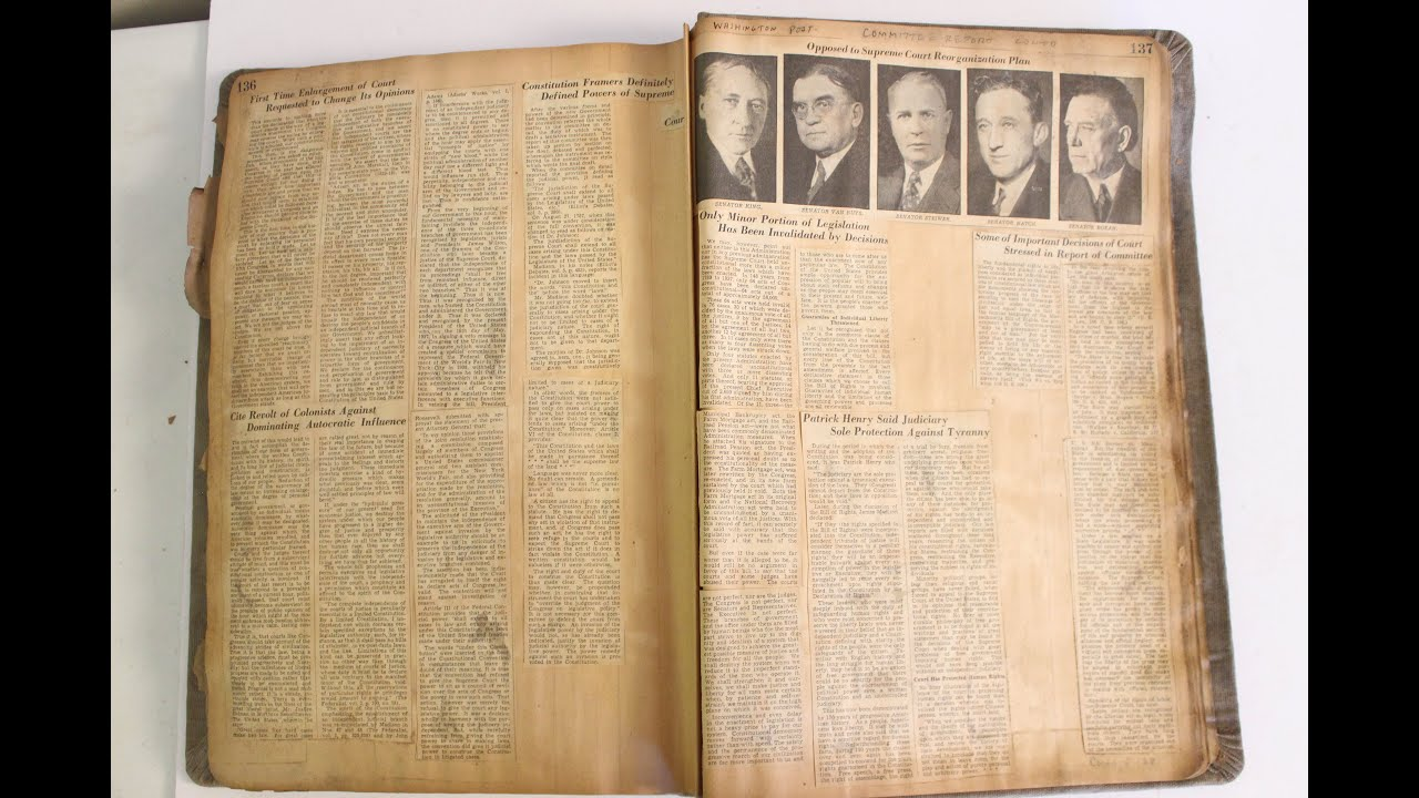 Scrapbook ideas newspaper articles - Vintage Scrapbook Newspaper Clipping Book Old Rare 1800s