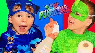 PJ Masks CATBOY'S LAZY! Little Red Hen Children's Story Episode with Catboy & Gekko