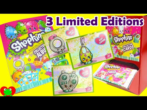New Shopkins Collector Cards with Album 3 Limited Edition Finds Toy Genie