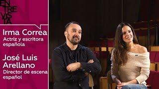 Actriz Irma Correa y director de escena José Luis Arellano: