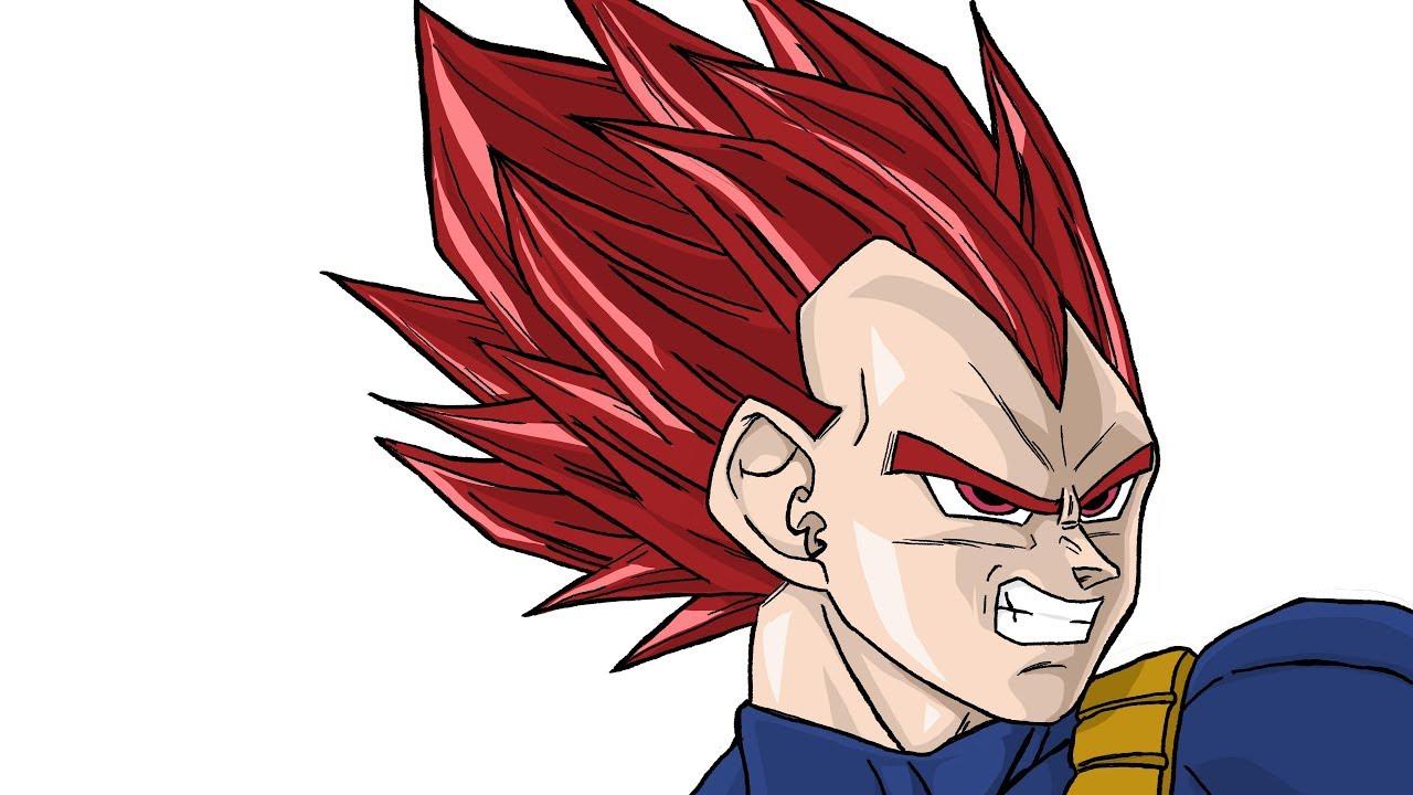 How To Draw Vegeta Ssj God Dragon Ball Super