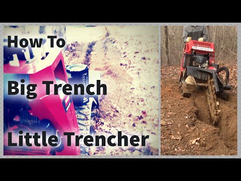 E Z Trench Wire And Cable Burying Trencher Doovi