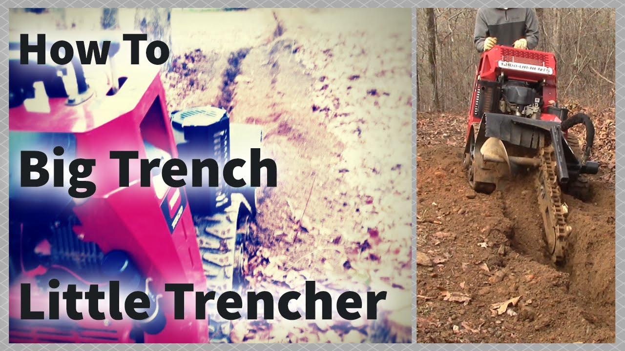 How To Dig A 10 Inch Trench with a 4 Inch Trencher