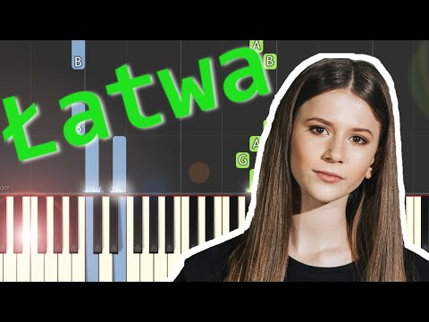 🎹 Anyone I Want to Be (Roksana Węgiel) - Piano Tutorial (łatwa wersja) (EASY) 🎹