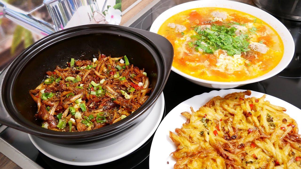 CÁ CƠM KHO TIÊU / CÁ CƠM CHIÊN GIÒN và Canh Cà Chua nấu Trứng – Cơm thường ngày by Vanh Khuyen