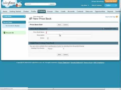 Salesforce create a new Price Book