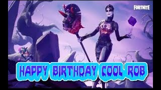💥FORTNITE HAPPY BIRTHDAY COOL ROB LET GET HYPE ROCKING THE DARK BOMBERS SKIN💥FACECAM💥