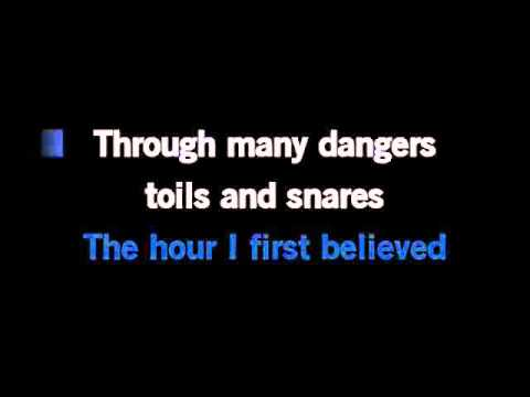 Amazing Grace Karaoke Instrumental With Lyrics in C