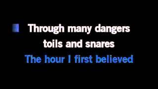 Amazing Grace Karaoke Instrumental With Lyrics in C
