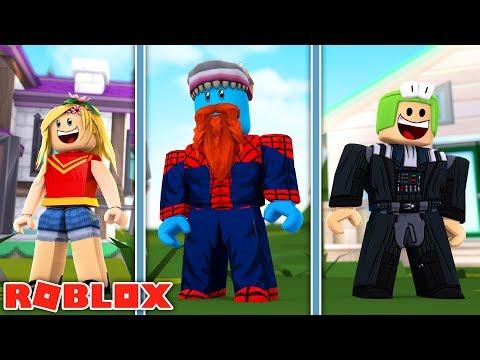 SUPERHERO BATTLE LITTLE KELLY VS LITTLE LIZARD - Sharky Gaming | Roblox