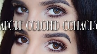 Adore Colored Contacts Review Giveaway Closed
