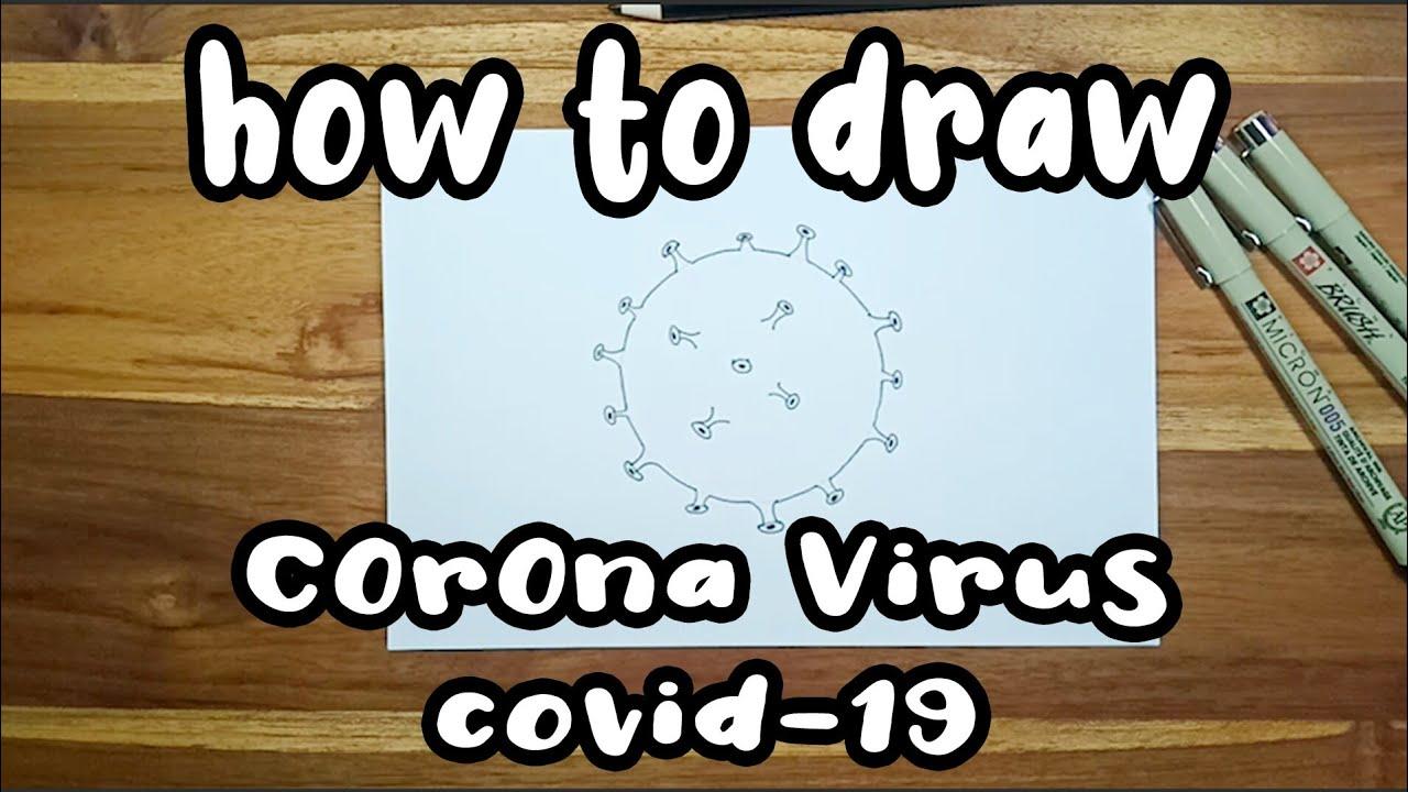 how to draw corona virus- belajar menggambar corona - YouTube