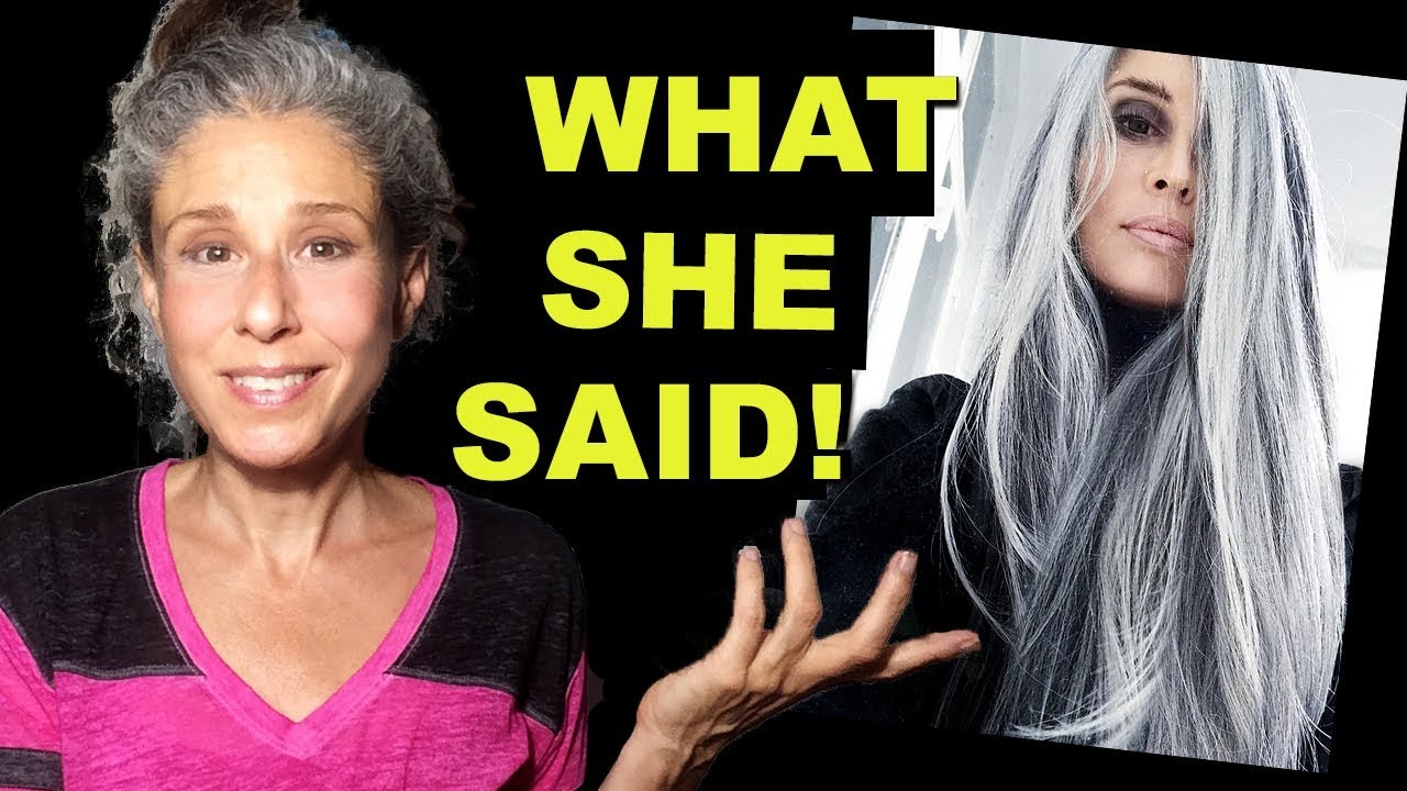 Annika Von Holdt The Email Message She Sent Me Grey Hair Transition Youtube