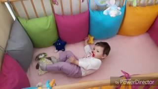 Бортики в кроватку своими руками;защитный бампер в детской кроватке
