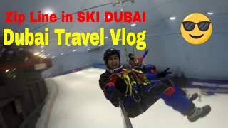 Dubai Visit | Snow Bullet Zip Line in Mall of Emirates, Dubai, UAE | Dubai Vlogs