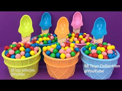 Bubble Gum Ice Cream Surprise Toys Spider Man Chupa Chups Ball Trolls Kinder Joy Despicable Me 3 Toy