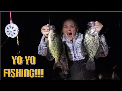 How To Catch GIANT CRAPPIE With YO-YO's At NIGHT!!!!!