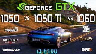 GTX 1050 vs 1050 Ti vs 1060 Test in 6 Games (i3 8100)