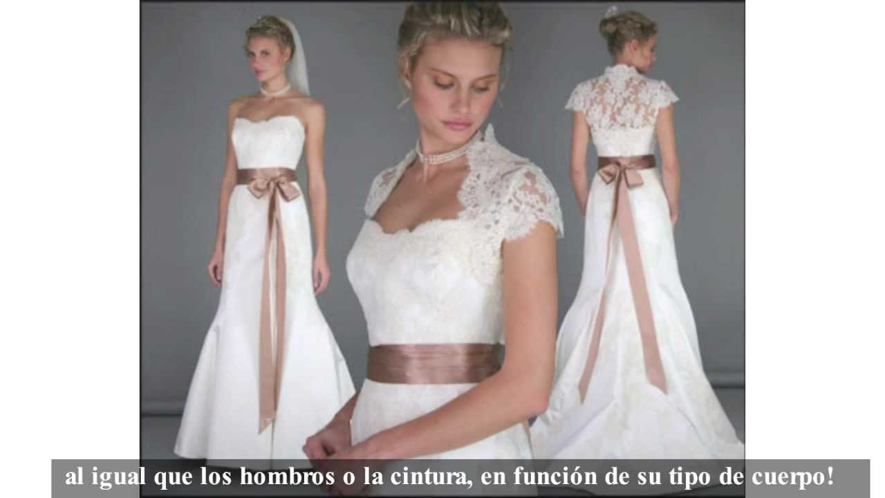 Trajes de novia para boda formal & informal - YouTube