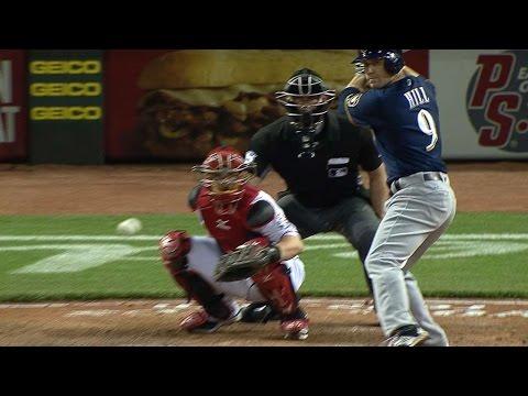 MIL@CIN: Aaron Hill's three-homer, seven-RBI game