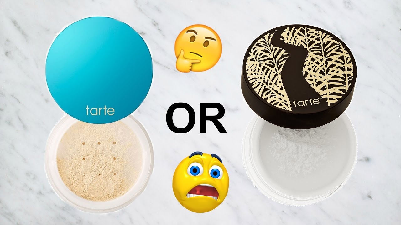 998dd5cf3948 WHICH TARTE LOOSE POWDER SHOULD YOU BUY ! ALL SKIN TYPES - YouTube