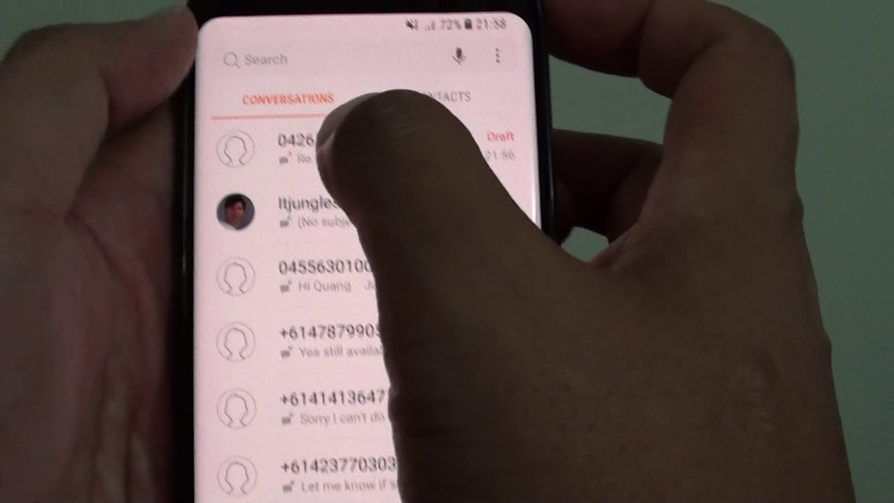Samsung Galaxy S8: How to Enable / Disable MMS Delivery Reports