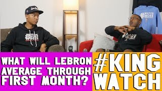 What will Lebron James average in the first month of the season? | #KingWatch | Hoops N Brews