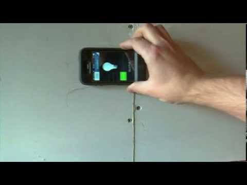 How To Find a Wall Stud with a Phone DIY - YouTube
