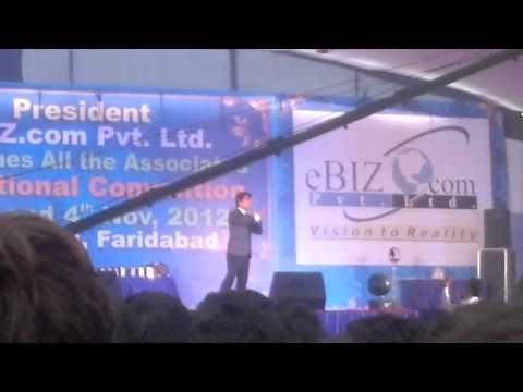 Arun Solanki Ji in faridabad convention stage  Nov 2012