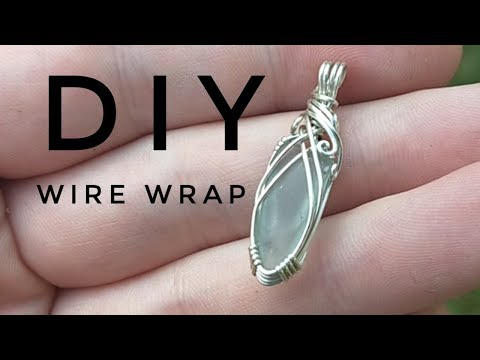 How to Wire Wrap Beach Glass | DIY | Basic Pendant Tutorial