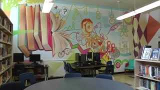 Vincent Massey Collegiate Library Mural - Mural and So Much More