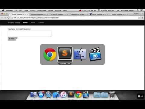 7.2 - Using IBM Watson API