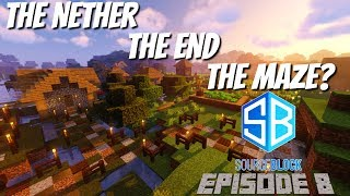 Minecraft SourceBlock Ep8: The Hunt for Shulkers Elytra and a Minecraft Labyrinth Avomance 2019