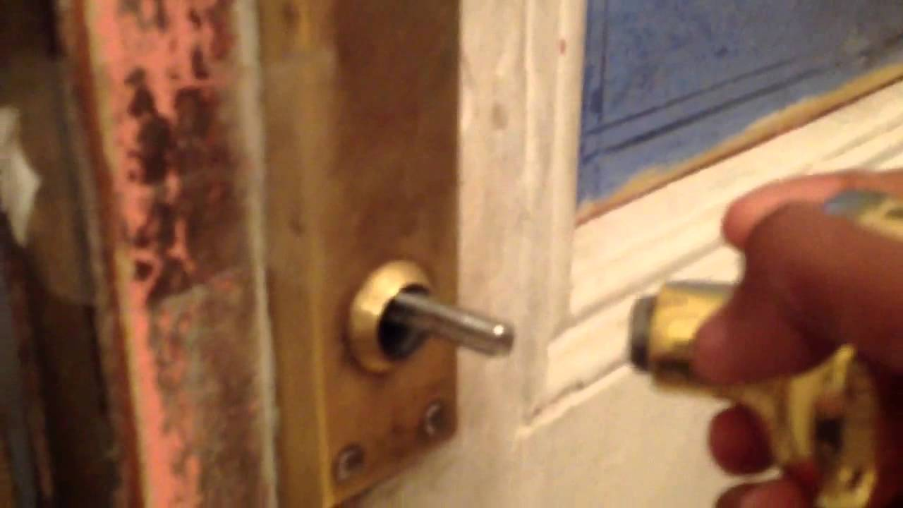 how to fix a broken doorknob - YouTube