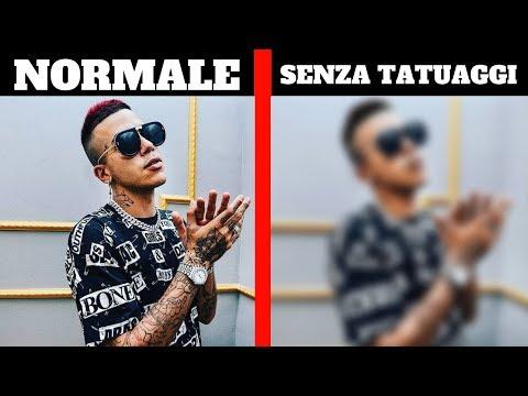 Come SAREBBERO i Rapper Italiani SENZA TATUAGGI