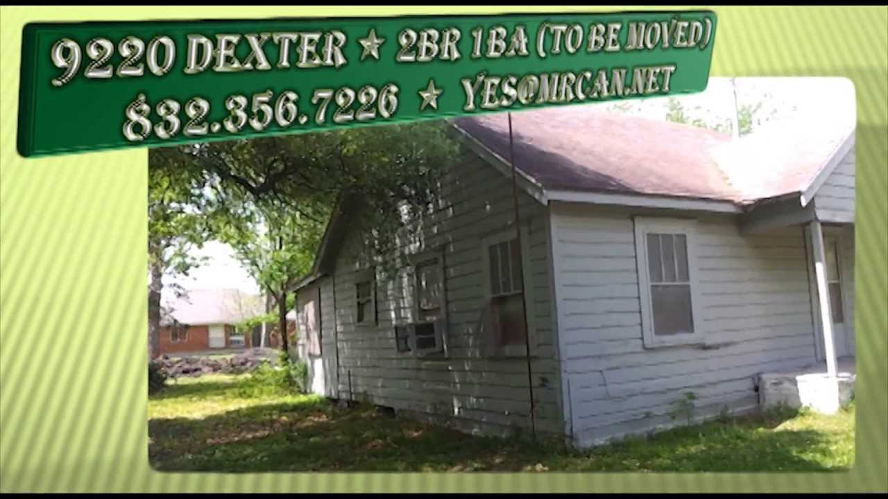 9220 Dexter 2BR 2BA (House for Sale - to be moved) in Houston TEXAS