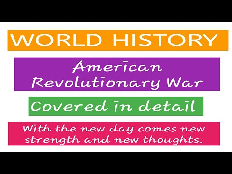 World History/American Revolutionary War/Fully covered/IB ACIO/SSC/Others/In Hindi