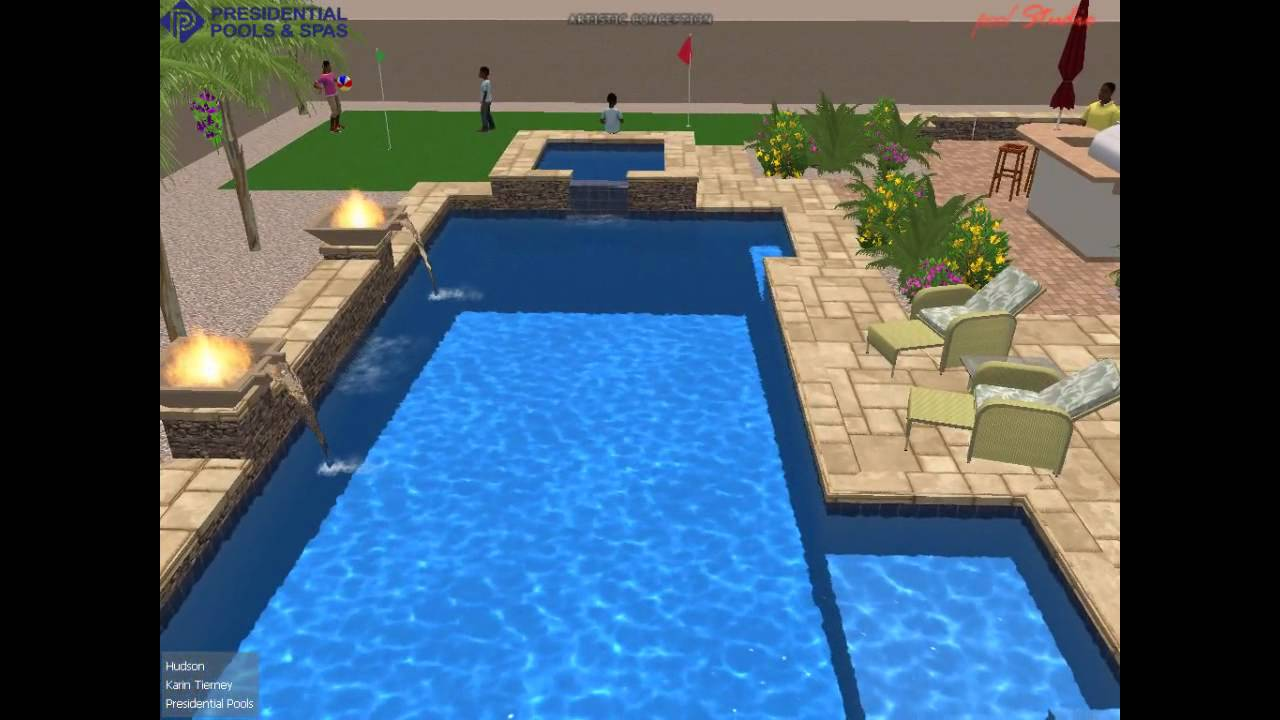 Hudson pool design by Karin Tierney at Presidential Pools and Spas Arizona  YouTube