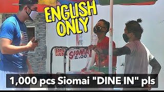 """ENGLISH ONLY Prank"" (Pakyaw Paninda)🇵🇭🙌  Bopis & Siomai VENDORS Social Experiment"