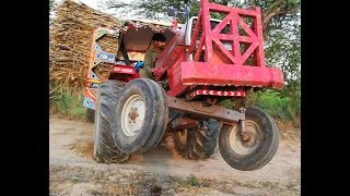 Trolley stuck in Mud | Tractor MF 385 Pulling