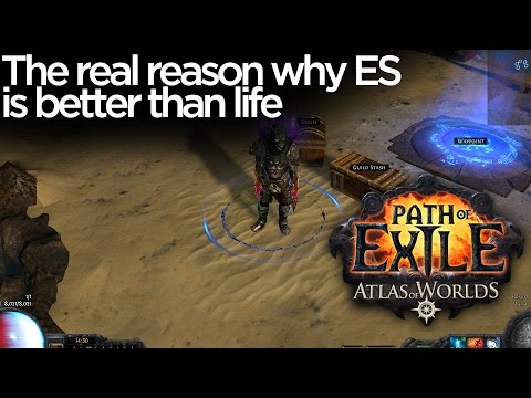 Path of Exile - Why players actually prefer energy shield over life based builds