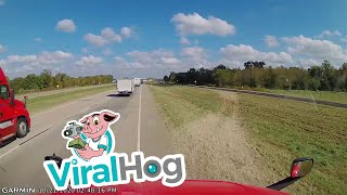 Truck Driver Finds a Way Out of a Traffic Problem || ViralHog