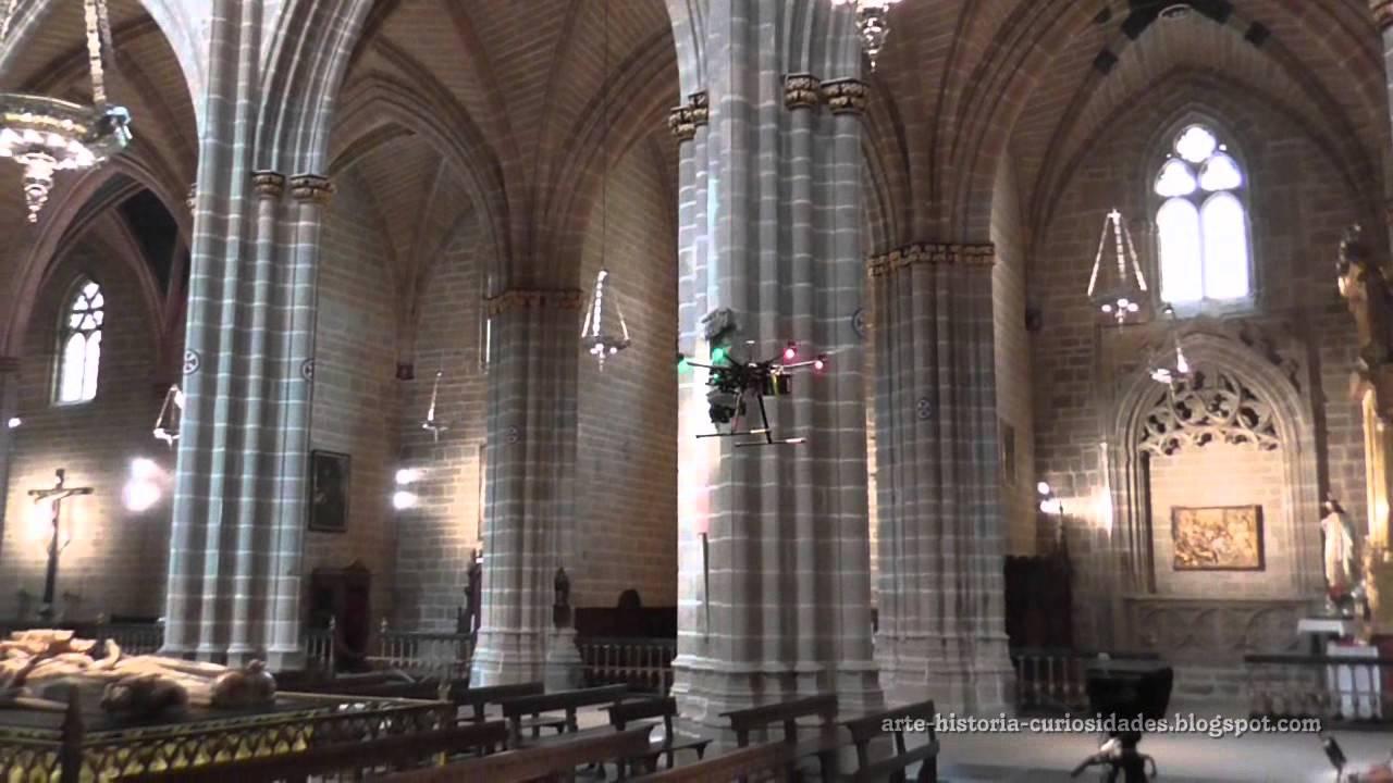 UN DRON EN LA CATEDRAL DE PAMPLONA - Sepulcro de Carlos III el Noble - YouTube