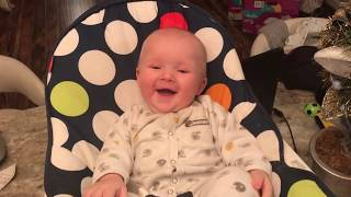 Funny Babie Laughing Hysterically