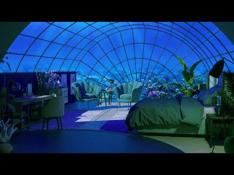 Cozy Underwater Room Ambience - Deep Underwater Sounds for Sleep, Relax, Study - Ocean Sounds