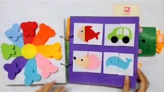 Quiet Book For Baby Boy |  Sách Vải Kỹ Năng Cho Bé Trai | Ghes Handmade