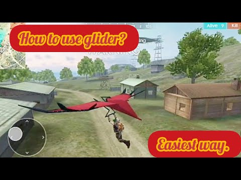 How to use Glider🚠 in Free Fire || 🔟0% working trick.